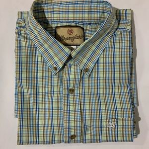 Wrangler Men's Button Down Short Sleeve Sz XXL